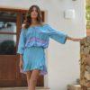 blusa india tonos turquesa ibicenca Bali