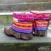 botas colores boho chic flecos ibiza trendy gems gems