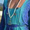 collar piedras blancas boho chic ibiza