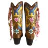 handpainted boho cowgirl boots made in Ibiza Lola