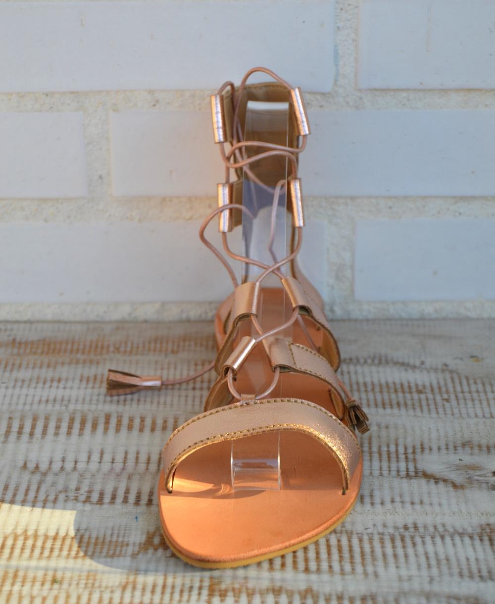 79d234b8576 sandalias gladiadoras color rosa champagne ibiza