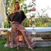 shop free love skirt asymmetrical ibiza skirt vintage flowers ibiza trendy pink