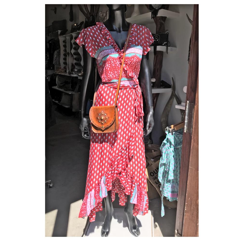 wrap red dress ibiza trendy boho chic 7325c7033a5