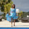wrap turquoise skirt ibiza trendy