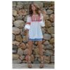 Boho blouse made in Ibiza pom poms Fioroni collection