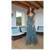 Leopard print boho maxi dress Ibiza Trendy Izuskan