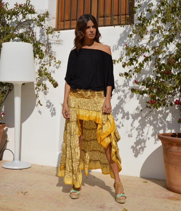falda free love amarilla