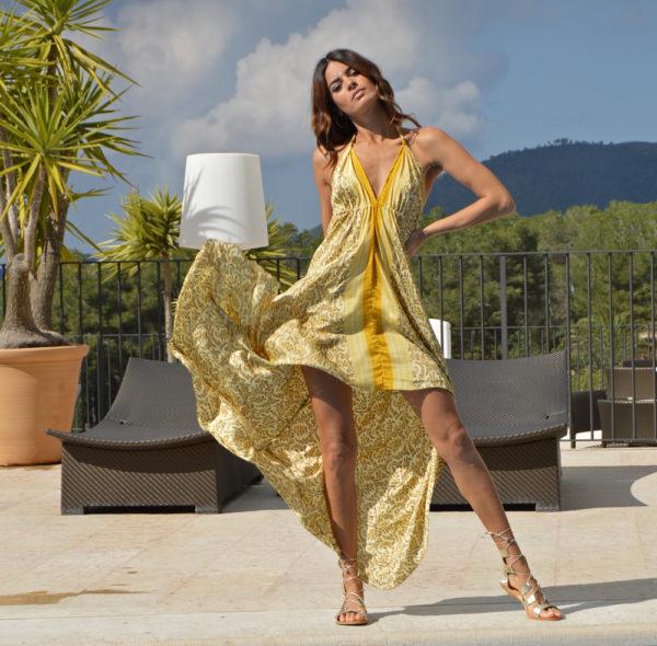 vestido free beach amarillo boho chic