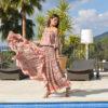 asymetrical dress in pink ibiza trendy boho