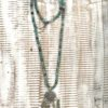 collar boho piedras verdes moneda antigua