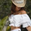 crop top white ibiza trendy tony bonet