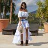 falda ibicenca blanca puntillas ibiza trendy free love