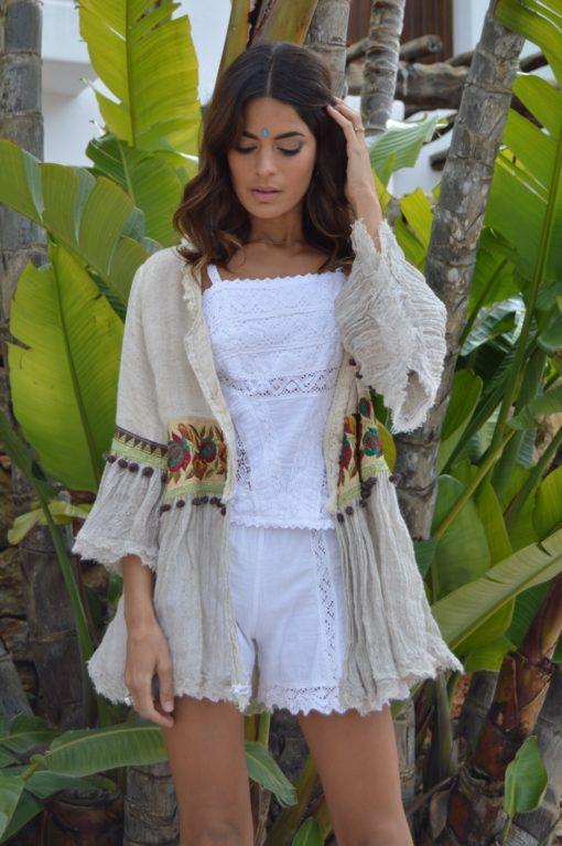 linen boho chic jacket from ibiza
