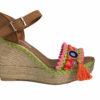 wedge sandals fucsia boho chic ibiza trendy