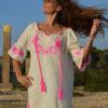 vestido algodon mercadillo ibiza bordado rosa blacno