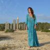 vestido indio boho chic largo color turquesa Ibiza Trendy