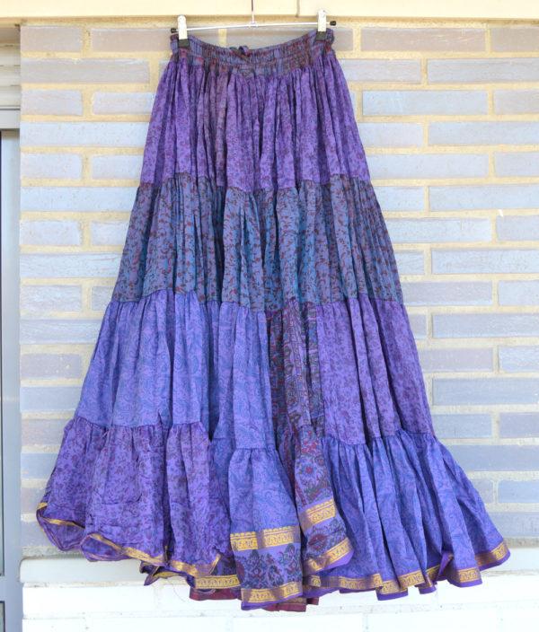 Maxi falda gypsy lila 4