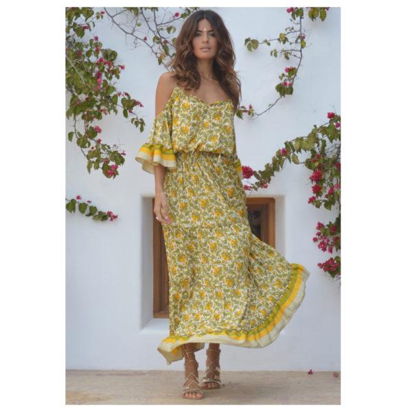 vestido mostaza sarah k amarillo