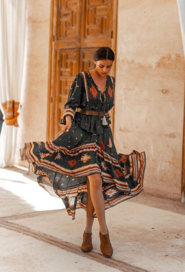 billie skirt tribal print miss june ibiza trendy