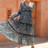 passion dress blue miss june bohemian ibiza