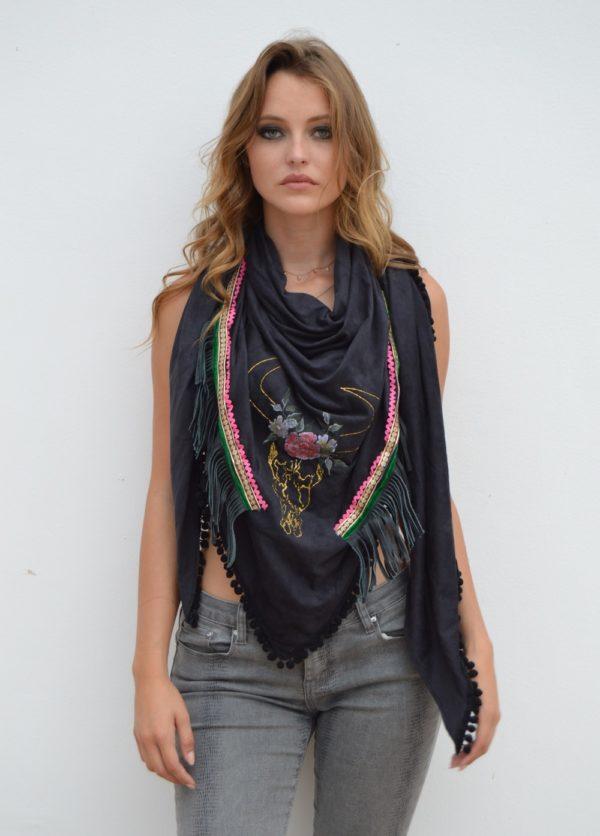 skull bull foulard ibiza trendy