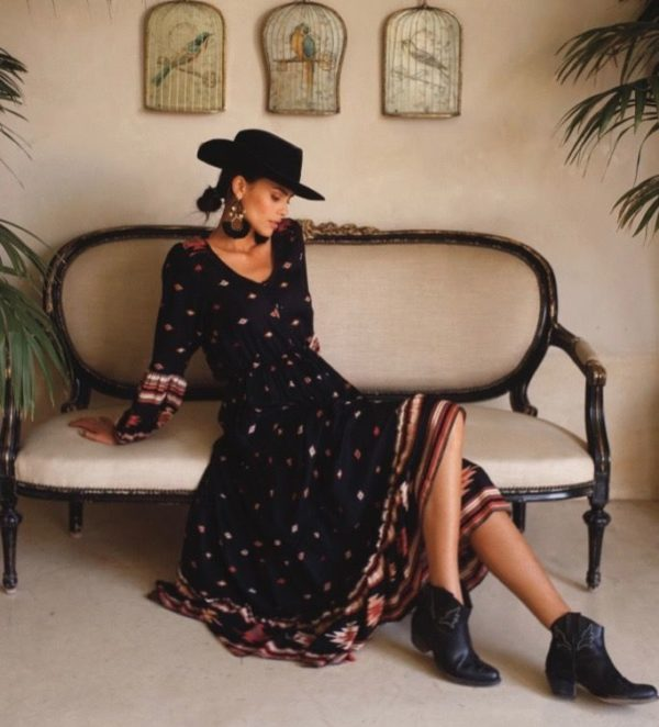 vestido anatolia dress black miss june