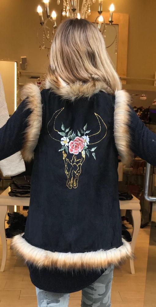 Skull bull vest in black Ibiza Trendy