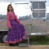 blusa fioroni lace burdeos falda violet