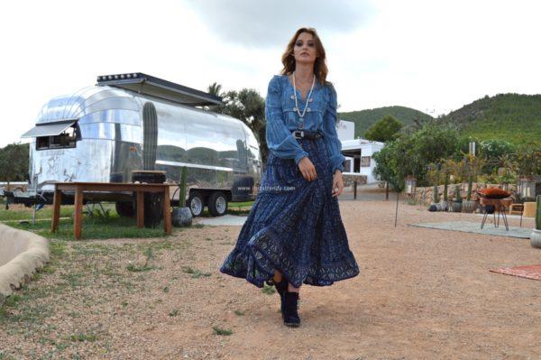 blusa fioroni lace in blue ibiza trendy