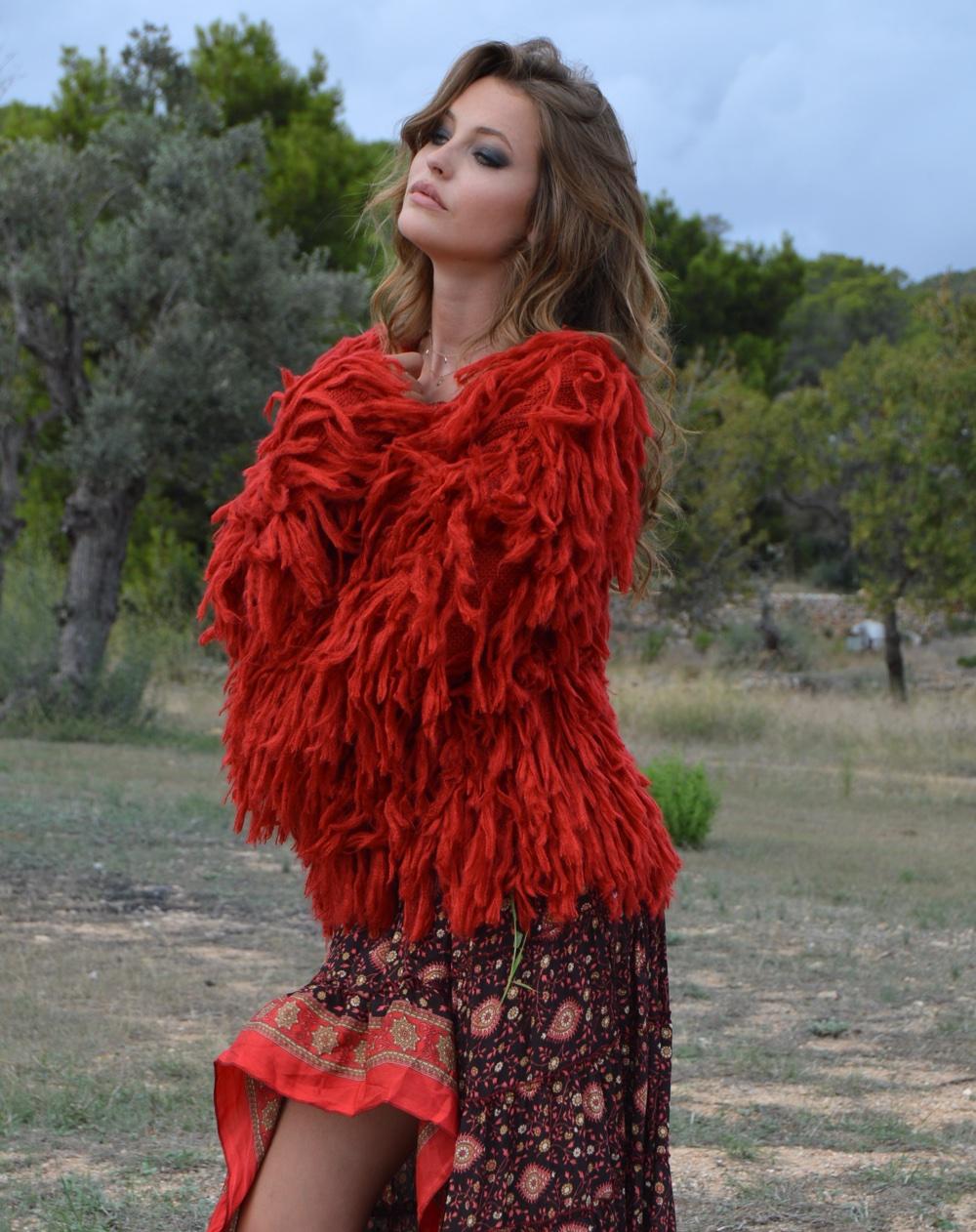 Chaqueta Shaggy en rojo – Ibiza Trendy  fca115498d645
