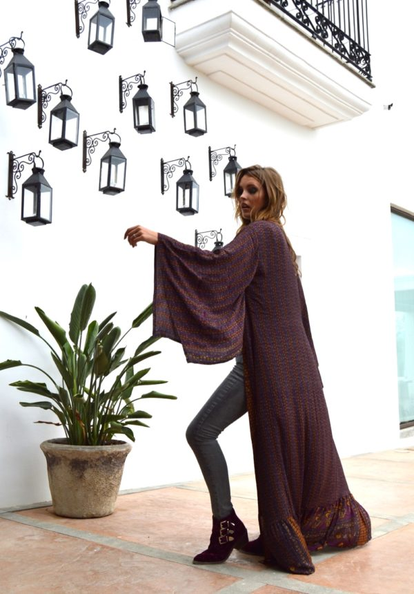 extra long kimono ibiza trendy bat sleeves
