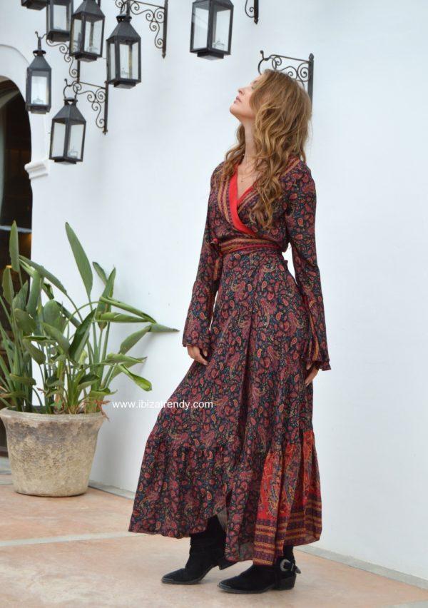 ibiza trendy kimono boho free love ibiza negro 2
