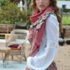 izuskan scarf embrodery flores ibiza trendy