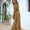 maxi duster kimono yellos flowers Fee Love Ibiza
