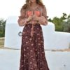 maxi falda india ibiza trendy free love red saffron