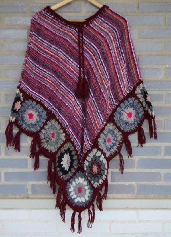 poncho lana rosa ibiza style boho chic 287