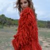 red shaggy jacket ibiza