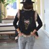 skull bull leather vest faux fur Ibiza Trendy marron (1)