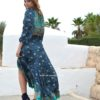 vestido asimetrico blue nights