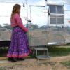 falda india boho chic ibiza trendy lila