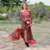 free love winter dress red saffron ibiza trendy
