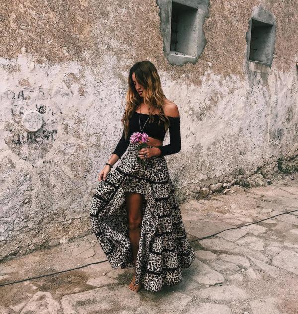 leo skirt ibiza trendy