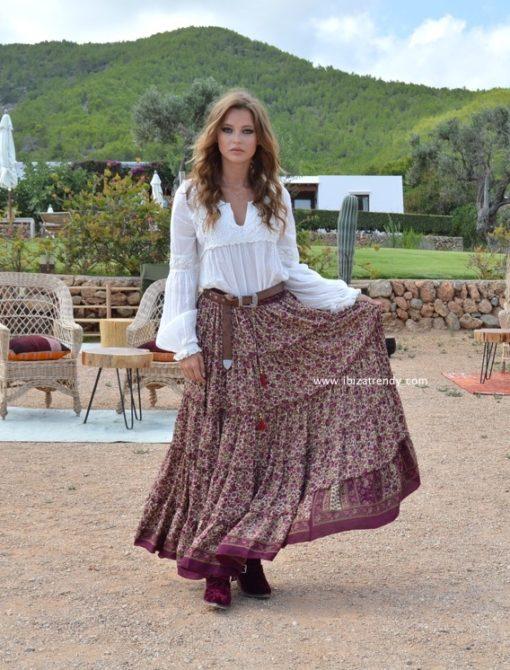 plum maki indian skirt
