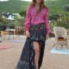 asymmetrical skirt ethnic black free love ibiza trendy