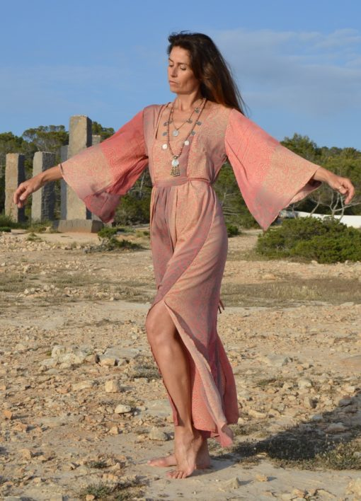 shop online ibiza fashion boho indian dress flared sleeves