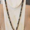 collar cuerno piedras verdes 1