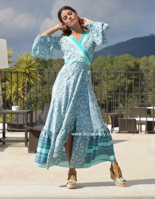 kimono azul turquesa free love ibiza trendy