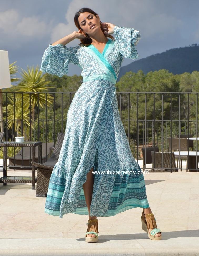 803f5cbc501cd Kimono Free Love in turquoise – Ibiza Trendy | Tienda online ...