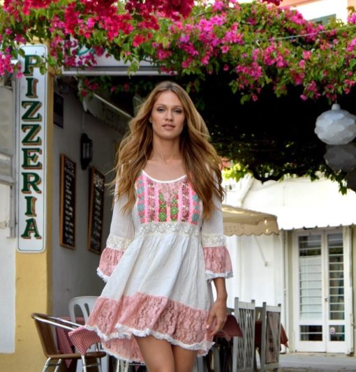 pink romantic dress fioroni collelction