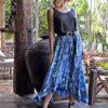 falda boho volantes azul julia ibiza trendy